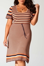 Stripe Pointelle Dress