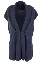 Rib Collar 1 Button Wool Vest