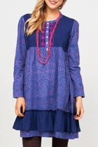 Allanah Cotton Paisley Dress