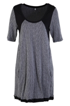 Slub Panelled Shift Tunic Dress