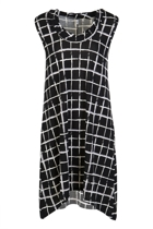 Twist Neckband Check Print Dress