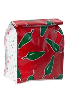 Lunch Bag - Chilli Green On Red