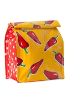 Lunch Bag - Chilli Red On Yellow