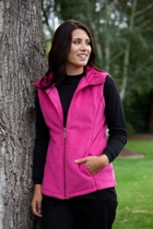 Ruched Collar Polar Fleece Vest