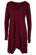 V-Neck L/S Draped Tunic