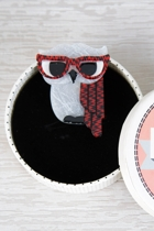 Waldo The Wacky Wise Owl Brooch