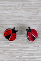 Erstwilder Ladybug Delight Earrings