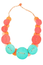 Bold Buttons Necklace