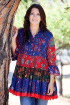 Cyprus Patch Tunic Top