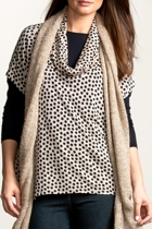 Cowl Neck Spot Top