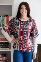 Marco Polo Intarsia Knit Top