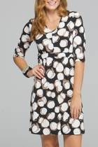 Cotton Fields 3/4 Slv Dress