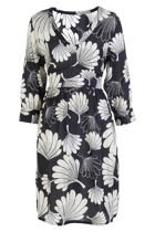 Polly Waist Tie Dress Floral Fan