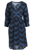Polly Waist Tie Dress  Zig Zag