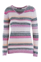 Stripe V Neck Pullover
