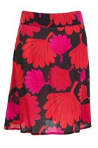 Adele A-line Skirt Floral Fan