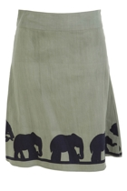 Adele A-line Skirt Elephants On Horizon