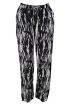 Black Poles Slouch Pants
