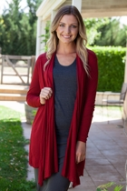 Mesh Long Draped Cardi