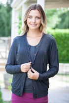 Dolman Button Up Cardi W Pockets