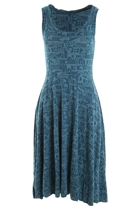 Jacquard Flared Dress