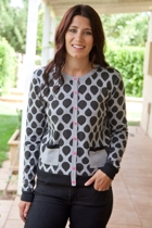 Peppy Tear Drop Cardi