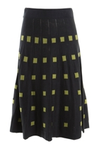 Square Jacquard Knit Skirt