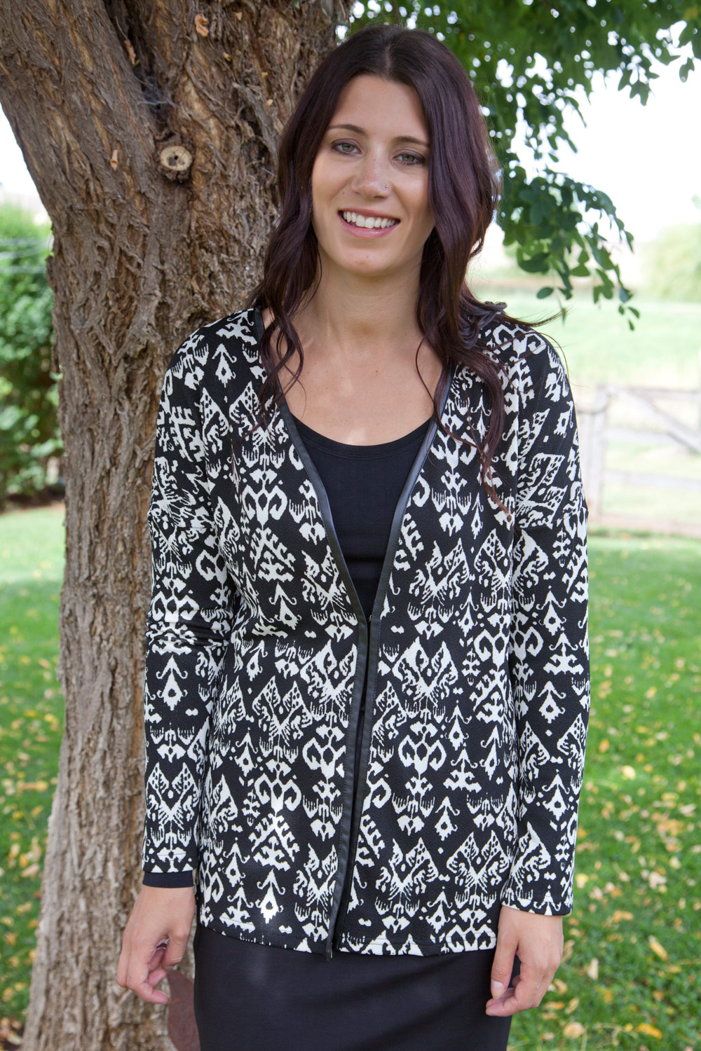 Clarity By Threadz Coat Of Arms Knit Cardi