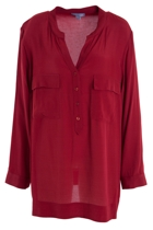 Placket Front Shirt