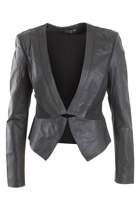 Veronica Leather Blazer