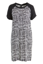 Print Raglan Slv Dress