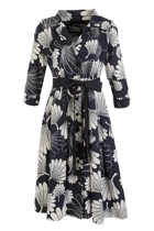 Lyla Shirt Dress Floral Fan