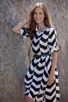 Robbie Shift Dress Zig Zag