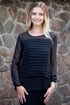 Sheer Pleat Blouse