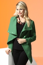 Gianna Angled Collar & Stud Jacket