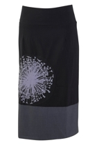 Placement Print Long Skirt