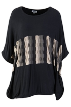 Slouch Top With Middle Stripe