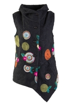Embroidered Asymmetrical Vest