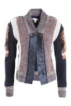 Button Front Contrast Knit Jacket