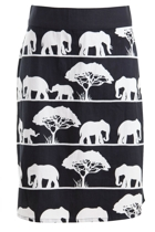 Adele A-line Skirt Elephants On Parade