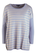 Cashmere Blend Striped Oversize Sweater