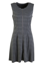 Striped Ponti S/Less Dress
