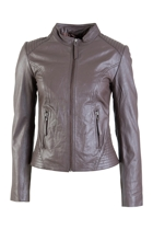 Front Zip Lamb Skin Leather Jacket