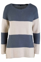 Stripe Fancy Knit Sweater