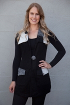 Black White Trim Vest