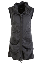 Ruched Detail Longline Zip Vest