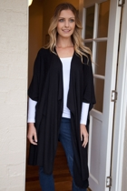 Viscose Draped Cardigan