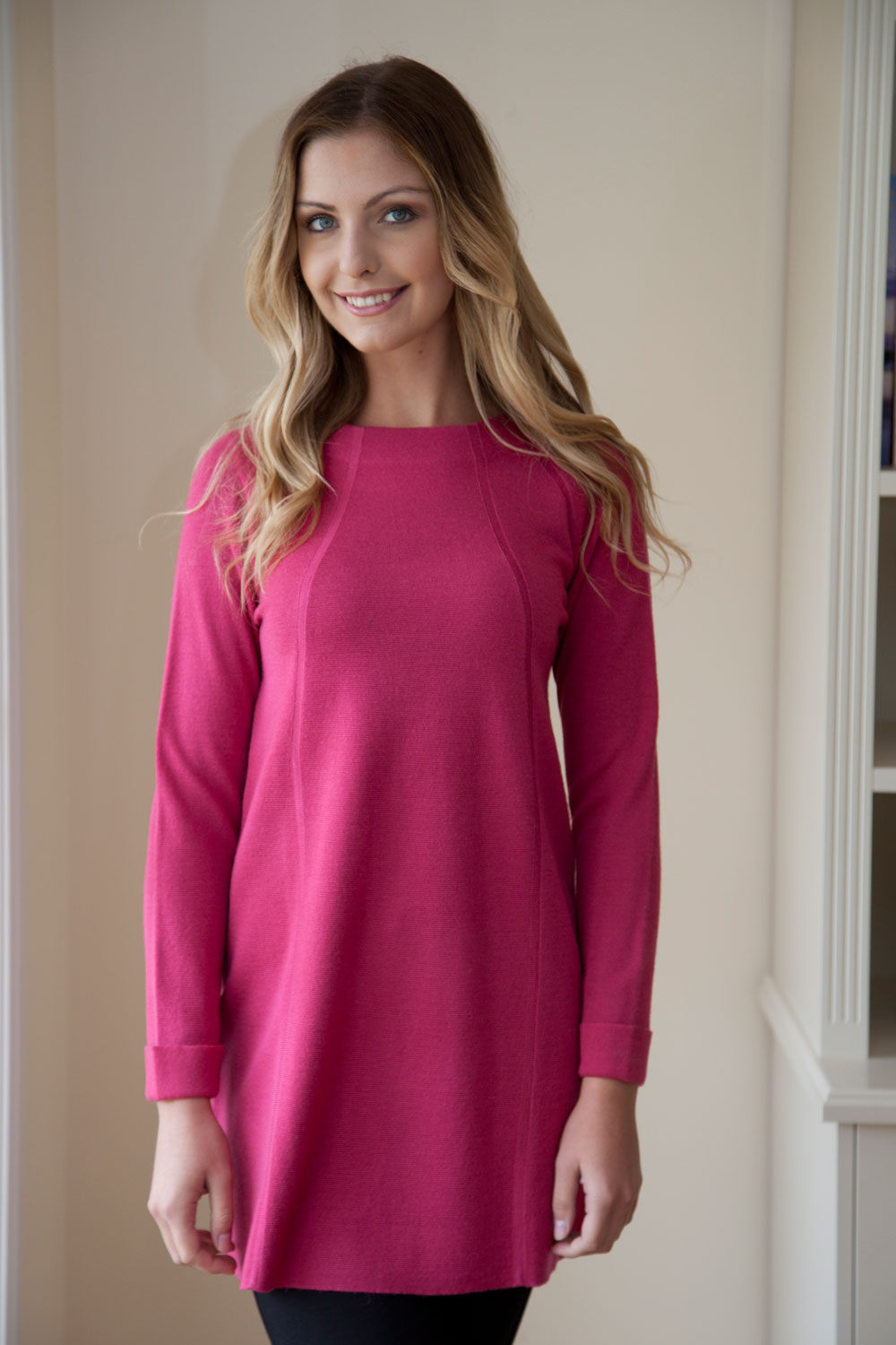 Ping Pong Raglan Slv A-Line Tunic Dress