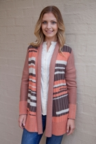 Patchwork Draped L/S Cardigan