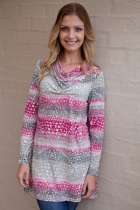 Animal Stripe L/S Tunic